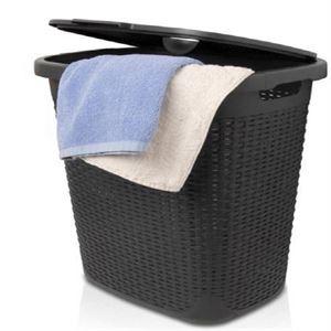 תמונה של פח אשפה עם מכסה נפתח